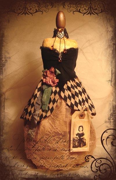 fabric collage  mannequin