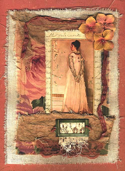 Peach Fabric Collage
